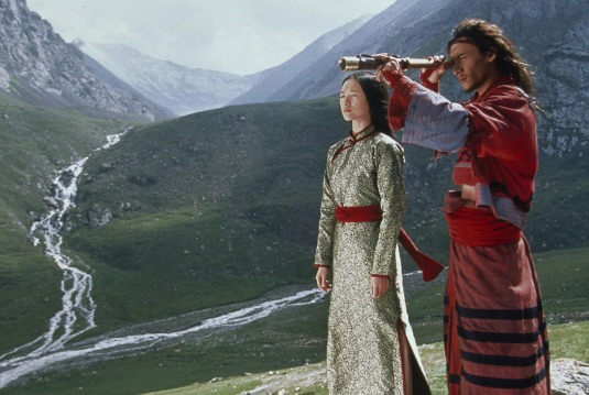 Zhang Ziyi and Chang Chen in a scene from CROUCHING TIGER, HIDDEN DRAGON, 2000.